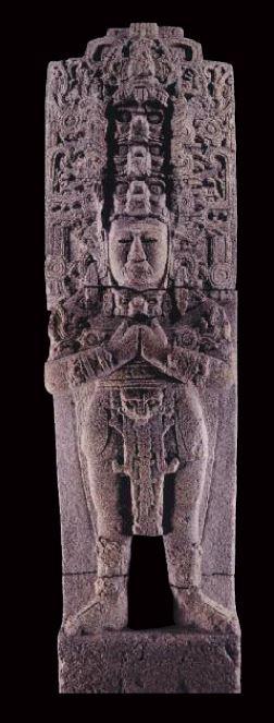 Señor Zots Choj, duodécimo gobernante de Toniná, Chiapas, periodo Clásico. Museo Nacional de Antropología, Conaculta-INAH. Foto JIGM.